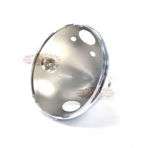 "Triumph BSA Norton Lucas Replica Headlight Shell 7"" 4 holes 99-9969/P"
