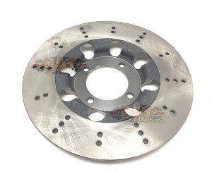 Triumph UK-Made, Front and Rear 4-Bolt Drilled Brake Rotor  37-7175/DRILLED