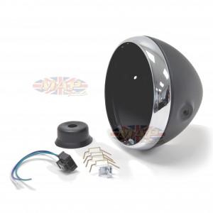 "Headlight Shell 7"" British Style- Black 66-65068"