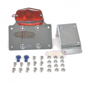 Universal Surface Mount Chrome Taillight & Plate Bracket 62-21550