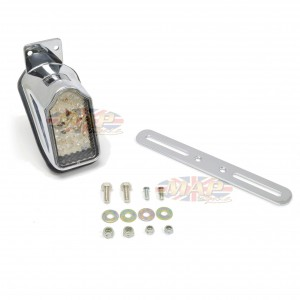 Mini Retro Tombstone LED Taillight w/License Plate Bracket 62-21614