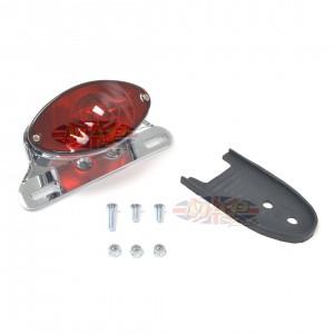 Custom Fender Mounted Cateye Taillight - Chrome 62-21624