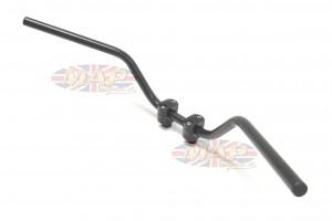 Classic Satin Black Comfortable Sport Touring Cruising Handlebar  23-12552S
