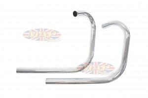 Triumph 650 Spigot Mount Chrome Drag TT Pipes 181214 181214