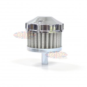 Universal Motorcycle Chrome Topped Crankcase Vent Filter 14-20905