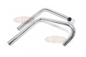 TT-Style Exhaust Pipes For Triumph 650 PT130