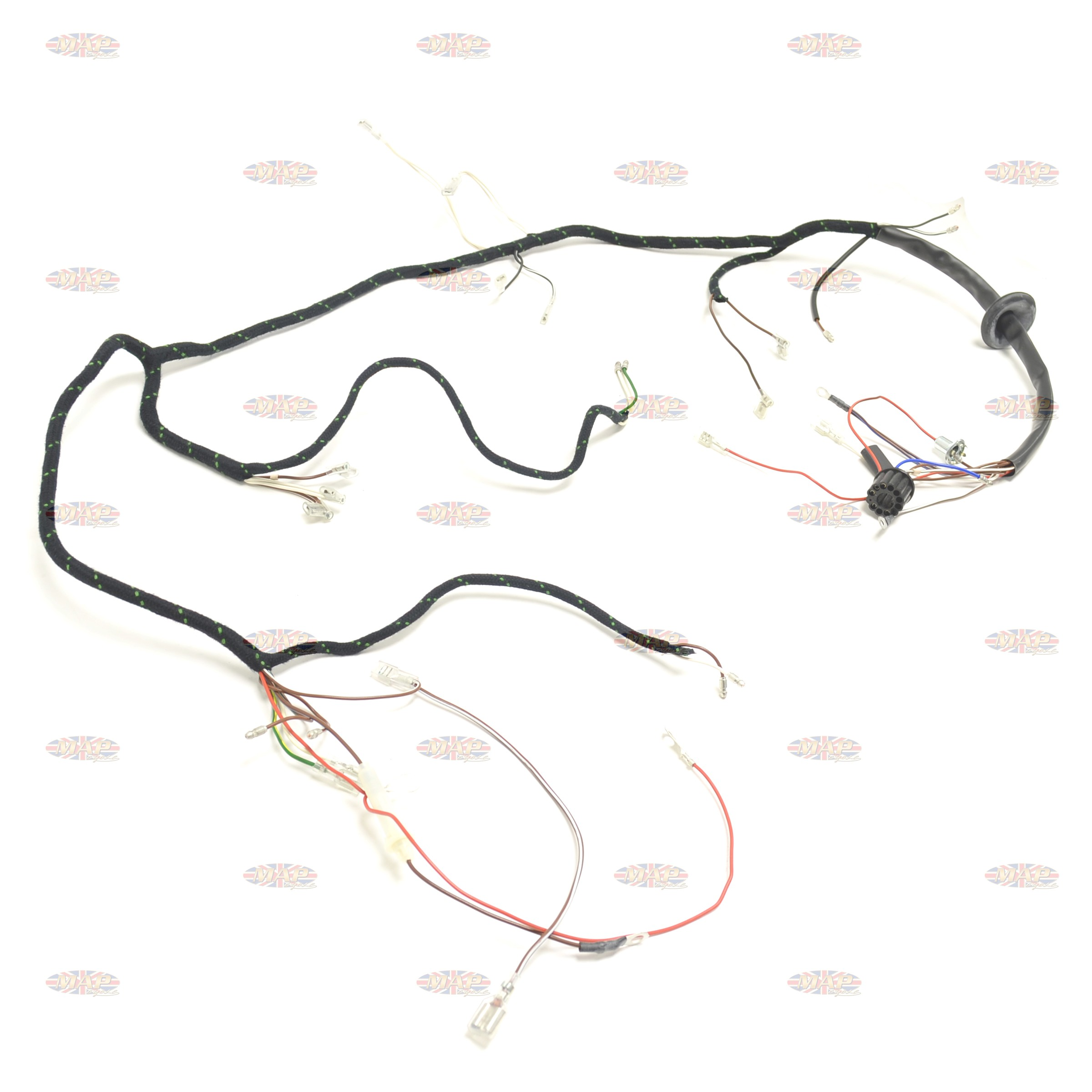 triumph 1967 t90 t100 t120 tr6 uk made quality wiring harness 1f1 triumph 1967 t90 t100 t120 tr6 uk made quality wiring harness triumph t140 wiring harness at couponss.co