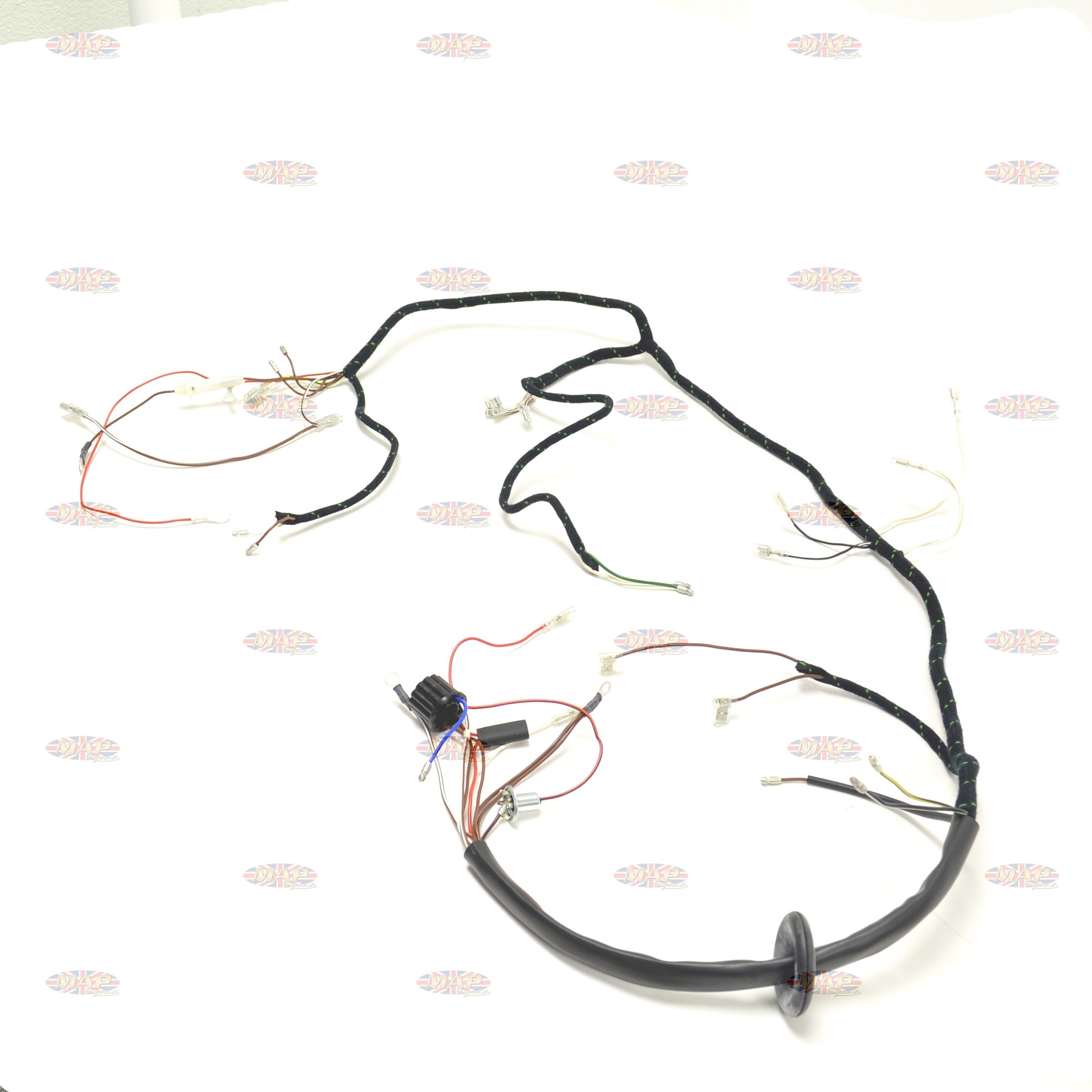 triumph 1967 t90 t100 t120 tr6 uk made quality wiring harness 0c6 triumph 1967 t90 t100 t120 tr6 uk made quality wiring harness triumph t140 wiring harness at couponss.co