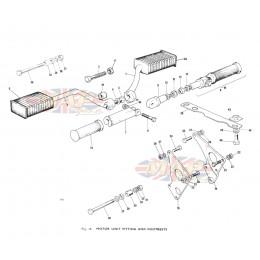triumph t bonneville exploded view parts diagrams engine mounts footrests