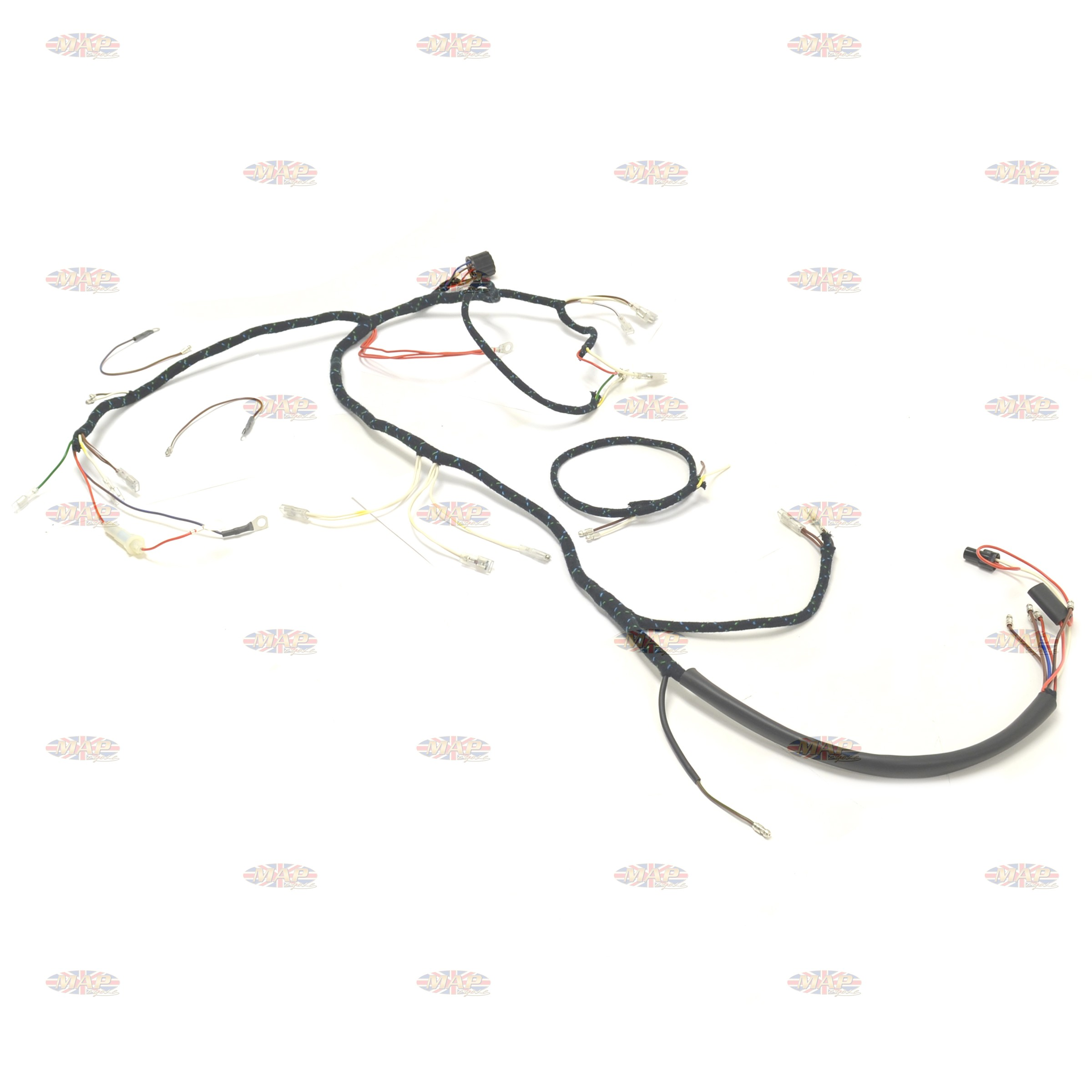 triumph 1966 t90 t100 t120 tr6 uk made 12 volt wiring harness 783 triumph 1966 t90 t100 t120 tr6 uk made 12 volt wiring harness triumph t140 wiring harness at couponss.co