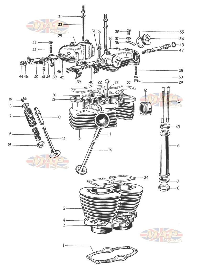Cylinder and Head - TR6