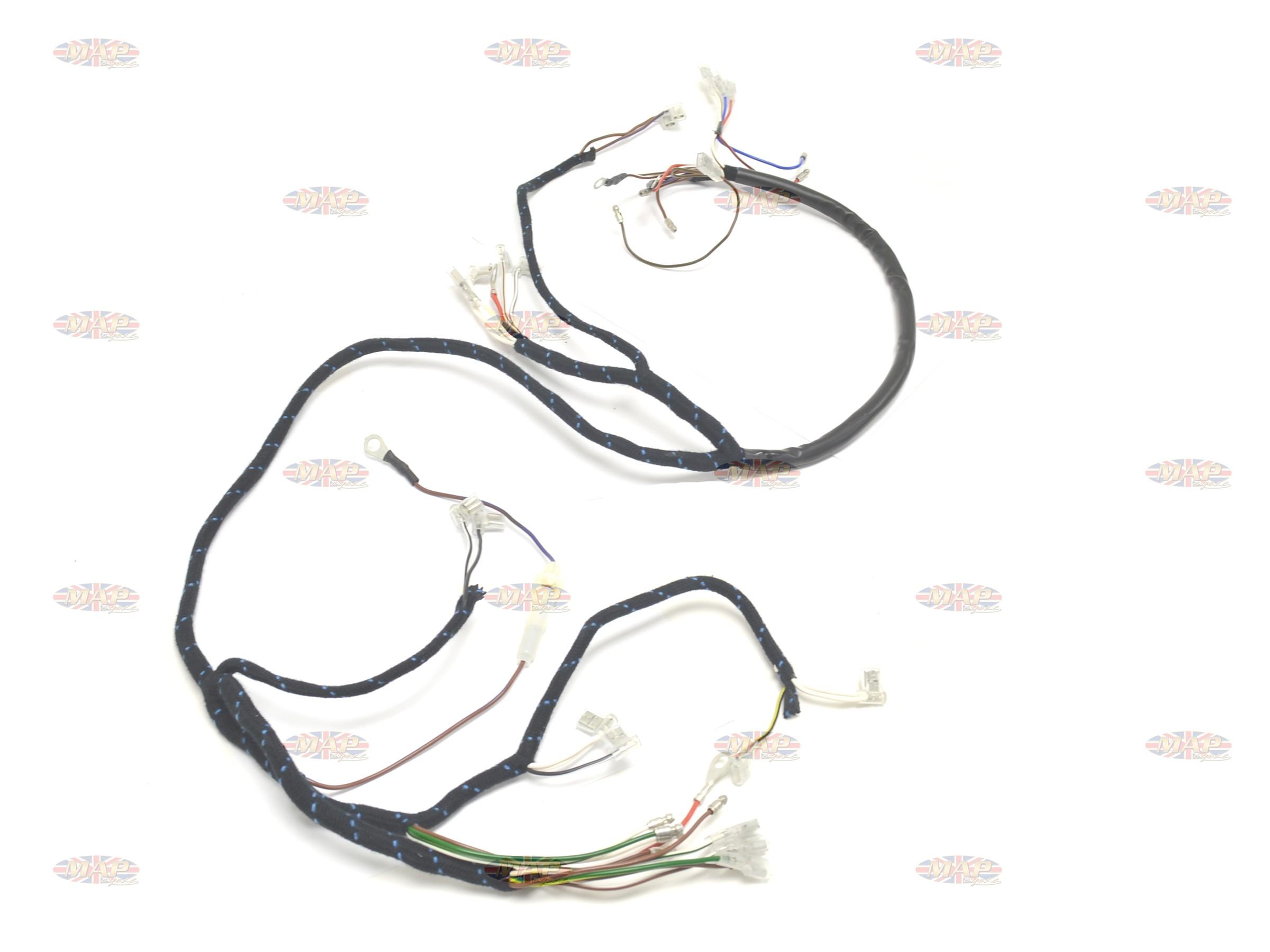 BSA 1968-69 A50 A65 English-Made 12-Volt Wiring Harness