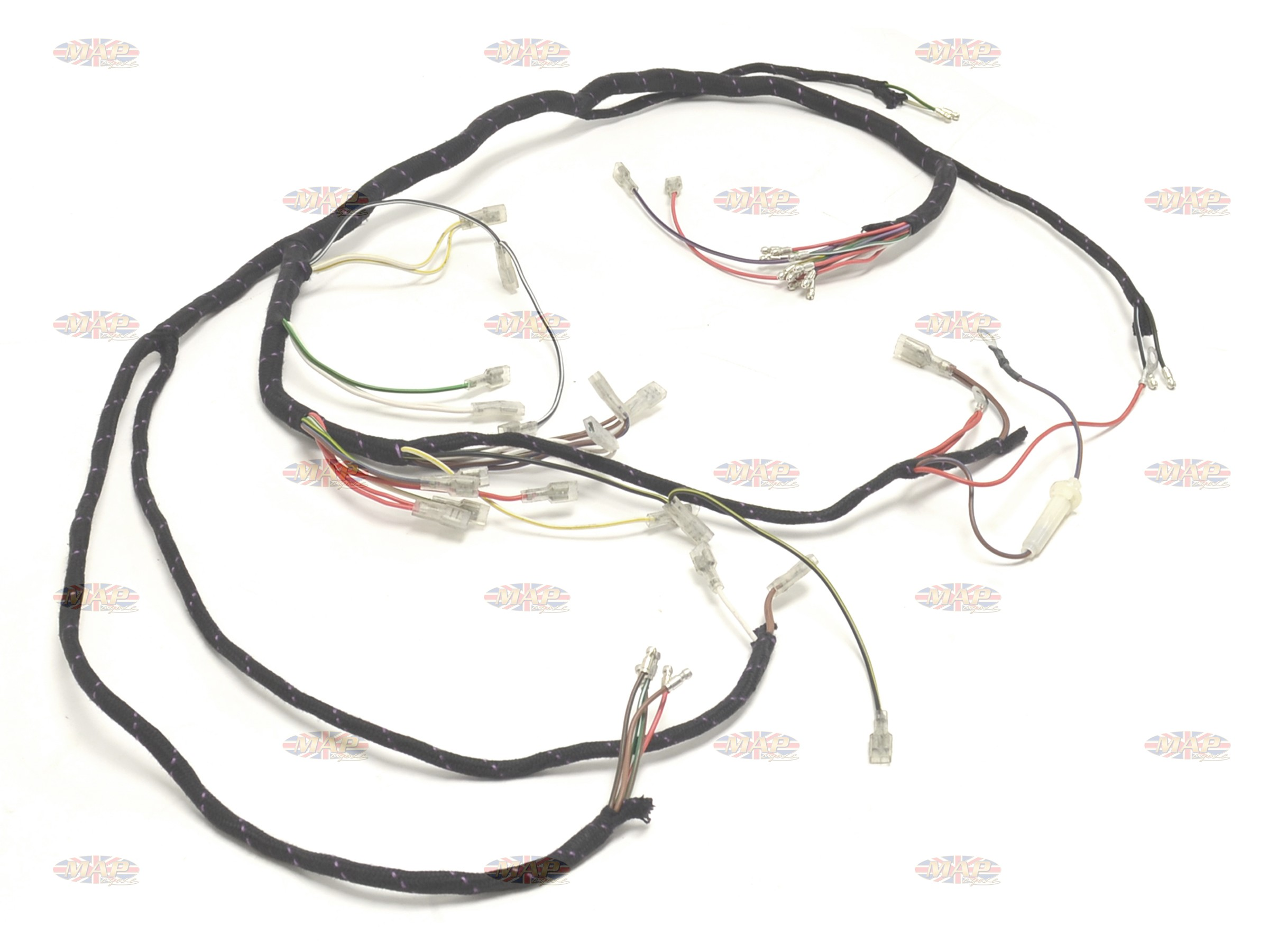 triumph 1971 73 t120 bonneville tr6 tiger uk made main wiring harness 9bc triumph 1971 73 t120 bonneville tr6 tiger uk made main wiring harness triumph t140 wiring harness at couponss.co