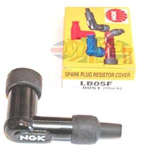 NGK High Quality Resistor, 90-Deree Spark Plug Cap (fits threaded stud)   MAP4488
