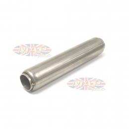 "Stainless Steel Glass Pack Exhaust Pipe Insert Baffle Muffler 1-3/4 1.75"" 009-0517"