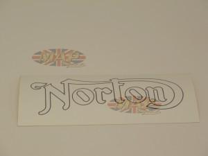 DECAL/ NORTON GOLD/BLACK 03-5039