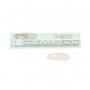 DECAL/  COMMANDO 750 / GOLD 06-1017
