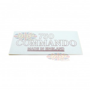 DECAL/  750 COMMANDO - MADE IN ENGLAND 06-1044