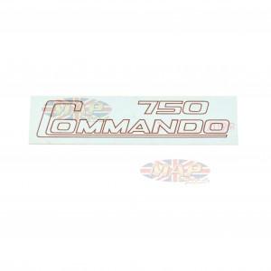 DECAL/  750 COMMANDO / GOLD 06-2019