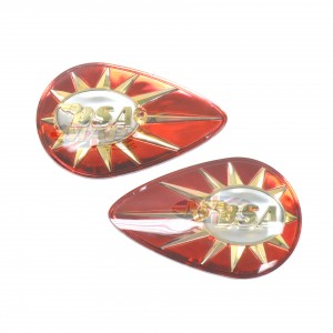 BADGESET/ RED/ SUP/W 40-8123:BSA (OE uk 40-8122/8123