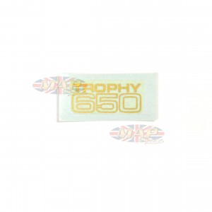 DECAL/  TROPHY 650  SM BLOCK GAS TANK 60-2027