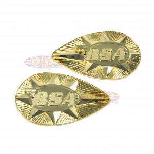 BADGESET/ GASTANK A65 '68-70 METAL OE uk 82-9695/9696