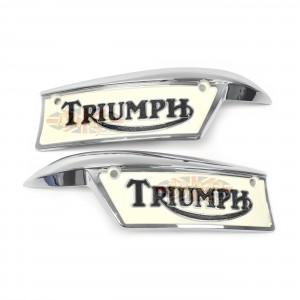 Triumph 500, 650, 750cc Reproduction Gas Tank Badge Set  82-9700/9701/P