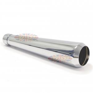 Universal Reverse Cone Megaphone Muffler No Baffle Chrome  80-84029